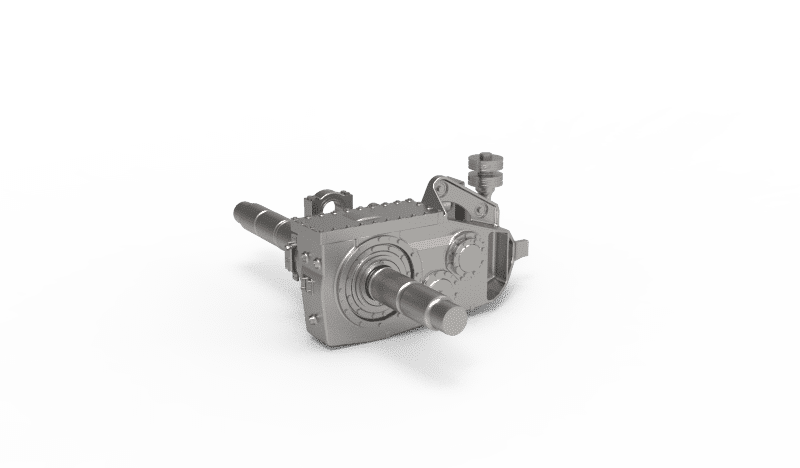 Semi-suspended helical 2-stage gearbox for EMU / DMU