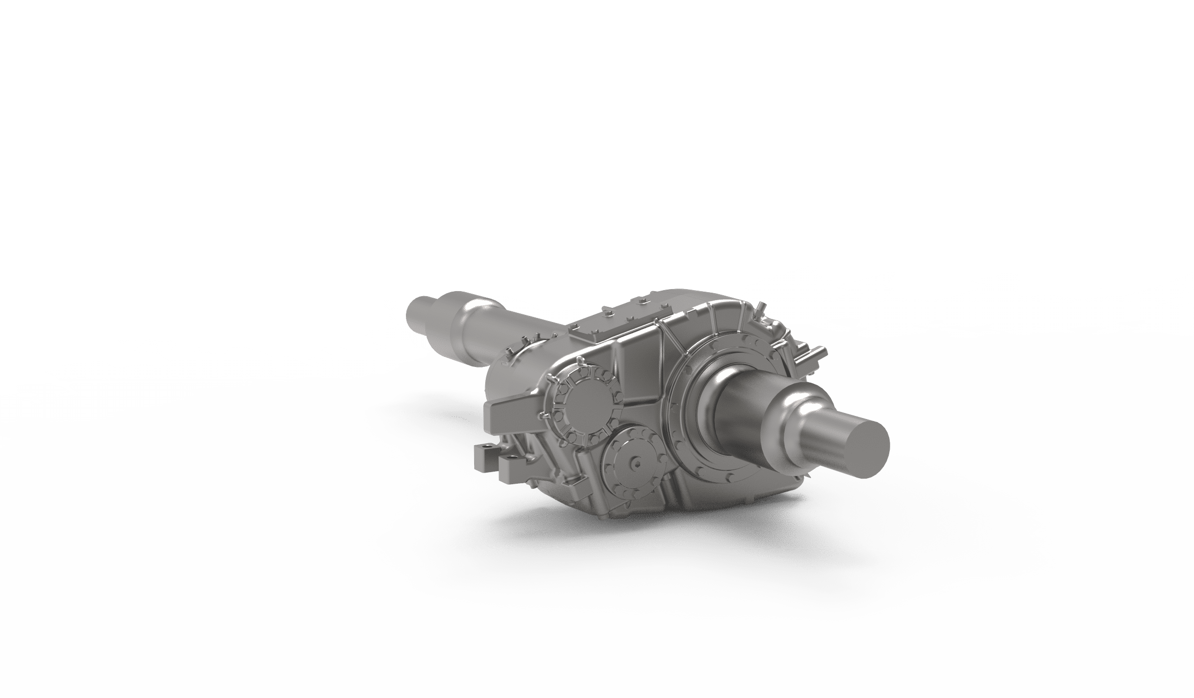 Semi-suspended helical 2-stage gearbox prototype