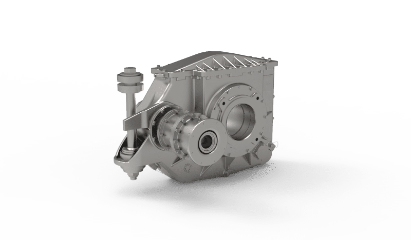 Semi suspended helical 1-stage Gearbox prototype for metro