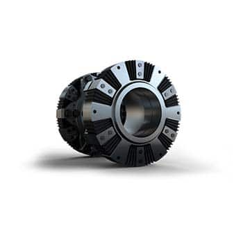 Prototype Output rubber wedge coupling with two joint
