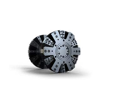 Prototype for rubber wedge coupling wheel interface