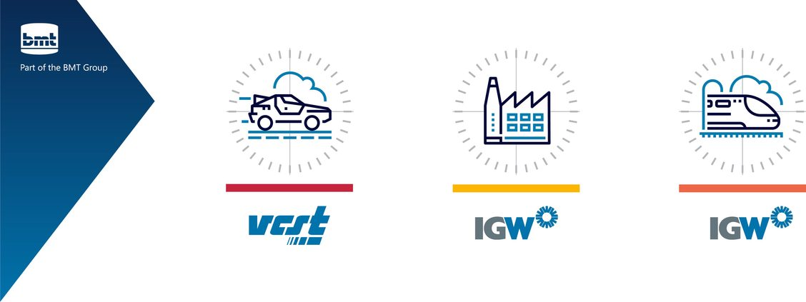 All Parts of the BMT Group: VCST, IGW industry, IGW rail