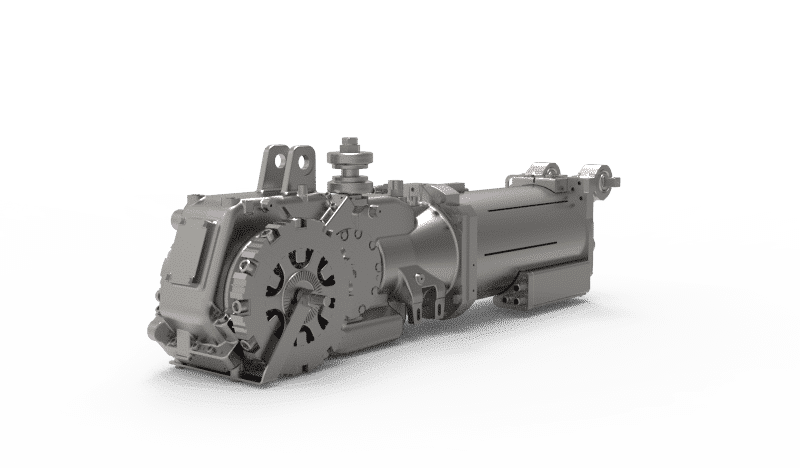 Prototype LRV gearbox bevel helical 2-stage