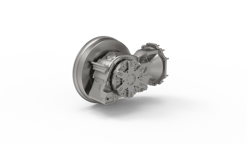 Prototype LRV gearbox fully suspended bevel 1-stage