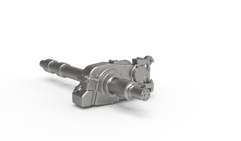 Prototype for LRV gearbox semi suspended helical 2-stage